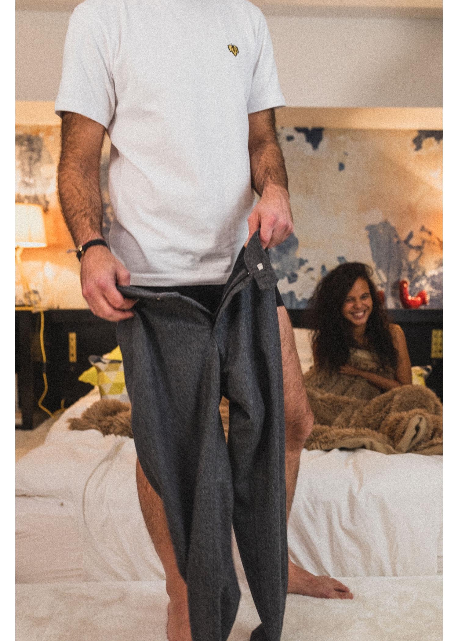 Pantalon Relax Gris