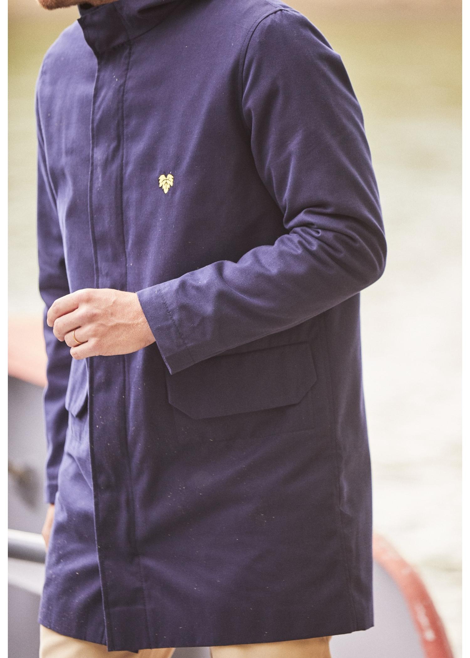 Manteau à capuche Navy