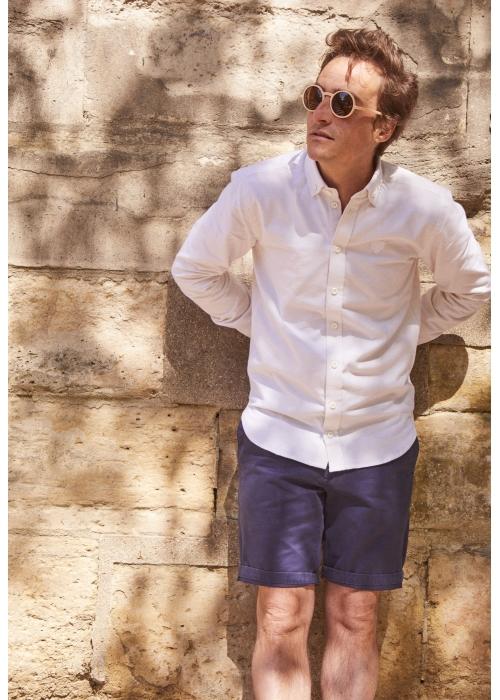 Chemise blanc cassé en flanelle  d'été