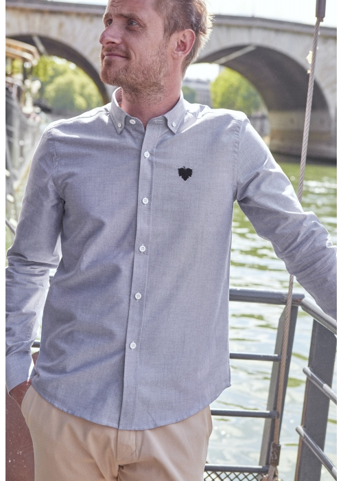Chemise Oxford Grise